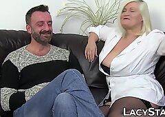 Arzt Lacey Starr Arschgefickt von berühmten Patienten Pascal weiß