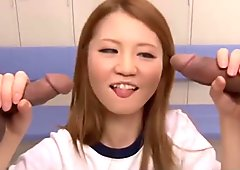 Lovely Asian chick Sakamoto Hikari gets nasty in the locker room