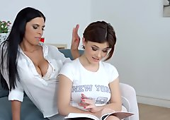 Kyra Queen and Veronica Moore in lesbian scene by Sapphic Erotica