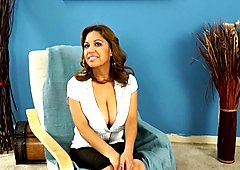 Sexy Mature 46-years old latina spreads her legs