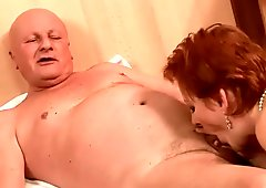 Two naughty grannies fucking two cocks