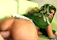 Dirty Indian bitch is drilled deep in her asshole