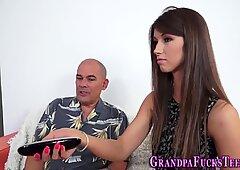 Teen rides grandaddys rod