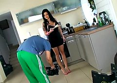 Foxy lady Aletta Ocean getting her manicured sexy feet licked