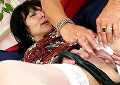 Lustful mature slut Cecilie enjoys a passionate finger fuck