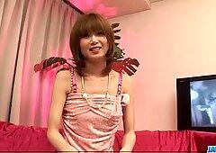 Rika Sakurai deals toys down her wet pussy