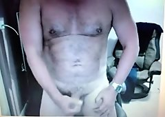 this cuban daddy loves to show his dick on cam