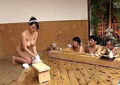 JAV super rare big breast bathhouse full body service with Reiko Nakamori
