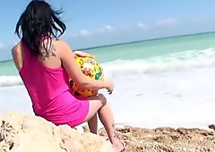 Adrianne Black - sweet teen beach games
