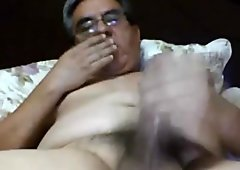 Latin daddy jerking off