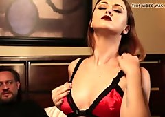 Hot brunette chick playing and rubbing her furry snatch