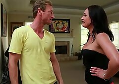 Lovely Tory Lane hops on his erection for a good ride