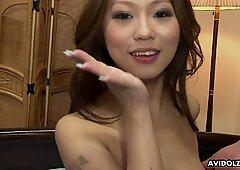 Japanese honey Ai Koda got her trimmed pussy stim