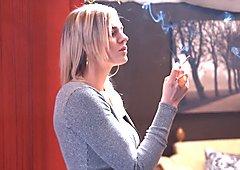 CARLY RAE SMOKING ALL WHITES