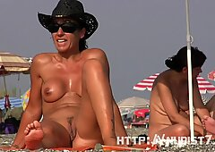 Sexy FKK-Strang Spy Fett Pussy-Schritt-Schuss