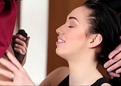 Ravishing young teen girl Aria Alexander gets her small wet