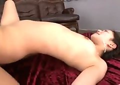 Bukkake girl covered in cum and kissed at end