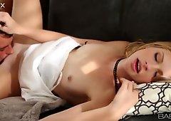 Blonde Avril Hall sucks cock  with pleasure