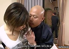 Rui Hazuki fucks with a horny repair man