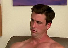 Str8 gorgeous U.S. Navy guy visits once more time before he's shipped out, because he needs cash.