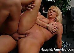 Damn Karen Fisher's fat ass is all over the screen fucking doggystyle and sucking deepthroat