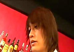 japanese slut seduce a Bartender