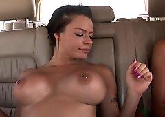 2 hot girls flashing outdoors