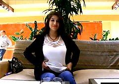 latina flashing big boobs in mall
