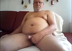 grandpa stroking