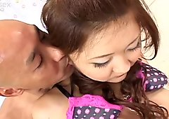 Curious redhead Japanese Haruka Kaede is treated like a princess