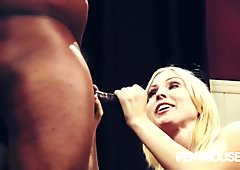 Christie Stevens takes a big black cock