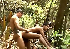 Horny Brazilian jocks went out into the woods to fuck