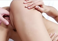 Tiny4k Tiny brunette Carolina Abril spreads her legs for big dick injection
