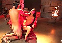 Asa Akira gets her hot lips round a big long dick