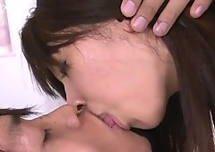 Buruma Aoi wants a facial reward so she rides her lover's dick vigorously