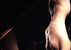 Obsessive spanking für große titten sklave ball geknebelt und mund sperma durchbohrt