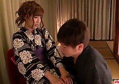 Hogar Placeres for Kimoni MILF, Anna Anjo - Más en Japanesemamas Com