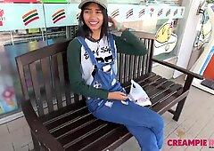 Japan creampies Thai teen girlfriend